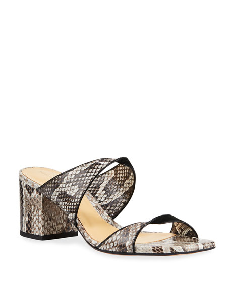 Image 1 of 3: Alexandre Birman Miki Python Twist Slide Sandals