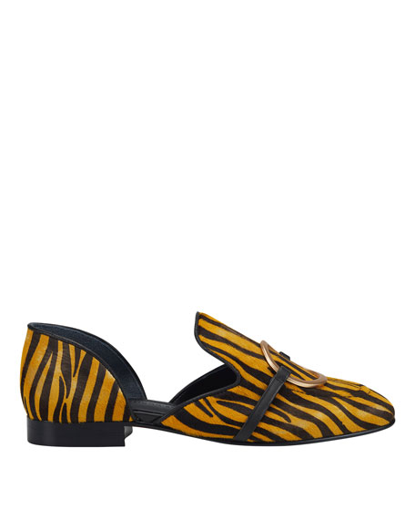 Image 2 of 4: Sigerson Morrison Ianthey Leopard Flat Loafers