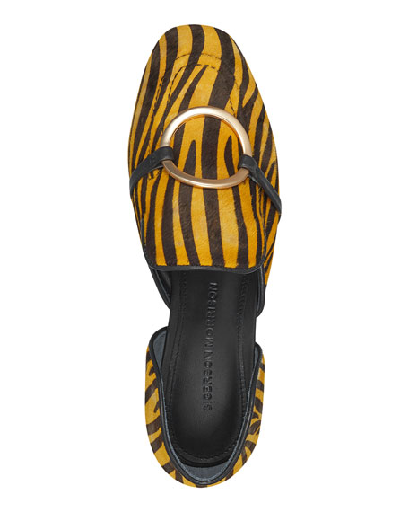 Image 3 of 4: Sigerson Morrison Ianthey Leopard Flat Loafers