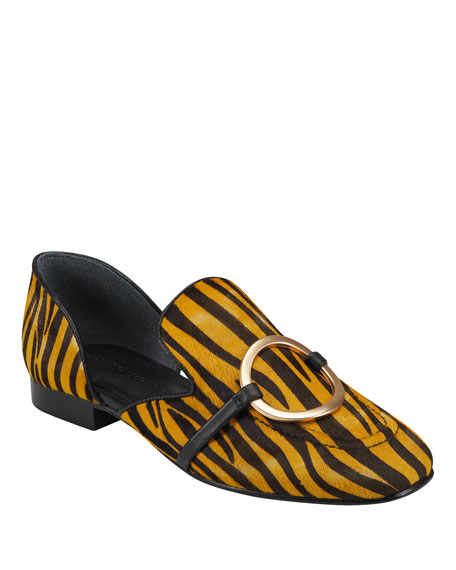 Image 1 of 4: Sigerson Morrison Ianthey Leopard Flat Loafers