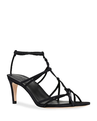 Gavin Satin Knotted Sandals