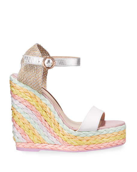 Image 2 of 3: Sophia Webster Lucita Wedge Espadrilles with Pastel Heel