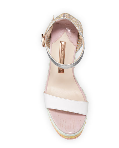 Image 3 of 3: Sophia Webster Lucita Wedge Espadrilles with Pastel Heel