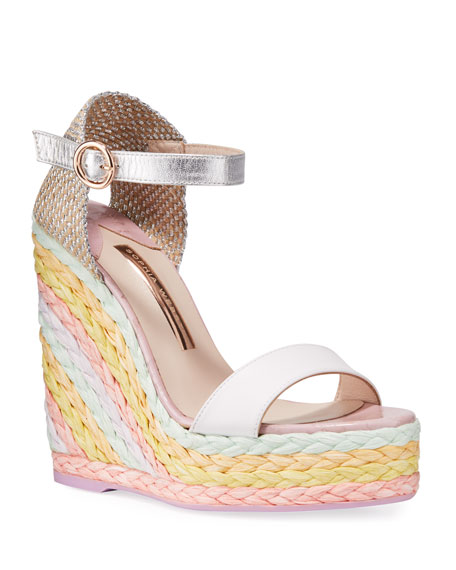 Image 1 of 3: Sophia Webster Lucita Wedge Espadrilles with Pastel Heel