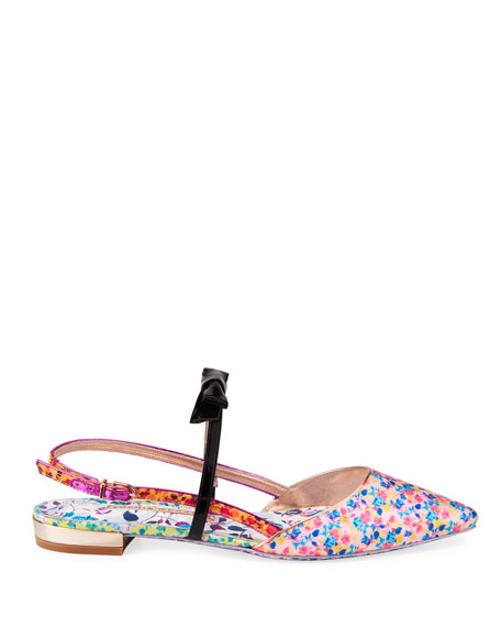 Image 2 of 3: Sophia Webster Laurellie Floral Ballet Flats