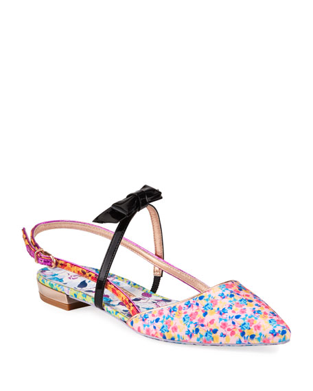 Image 1 of 3: Sophia Webster Laurellie Floral Ballet Flats