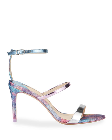 Image 2 of 4: Sophia Webster Rosalind Mid Glitter Sandals