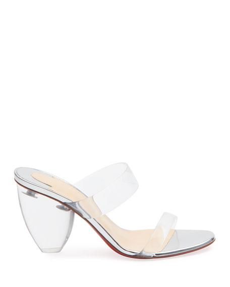Christian Louboutin Ovida 85 Red Sole Vinyl Sandals