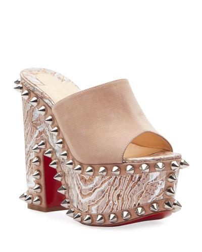 Massivatac 160 Cork-Heel Spike Red Sole Sandals