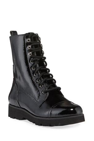 UK 3 Boys Navy Blue Lace Up Flat Ankle Boots with Coloured Eyelet Sizes UK 9