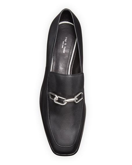 Rag & Bone Aslen Calf Leather Chain-Strap Loafers