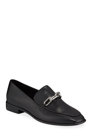 Rag & Bone Aslen Calf Leather Chain-Strap Loafers