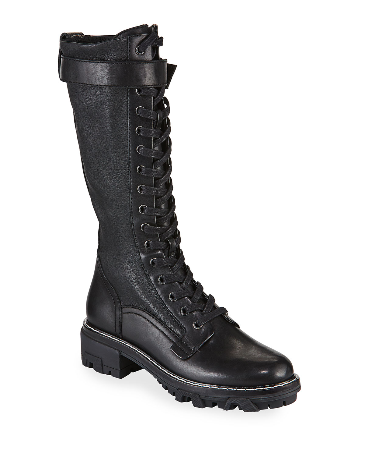 CUSTOM COMBAT BOOTS REAL LEATHER LACE UP L@@K