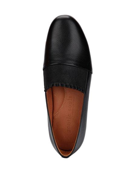 Gentle Souls Eugene Ruffle Leather Slip-On Loafers