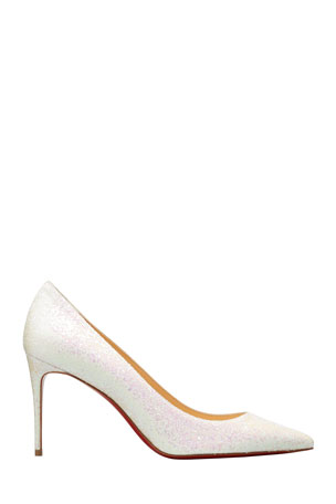 Christian Louboutin Kate 85mm Glitter Stiletto Red Sole Pumps