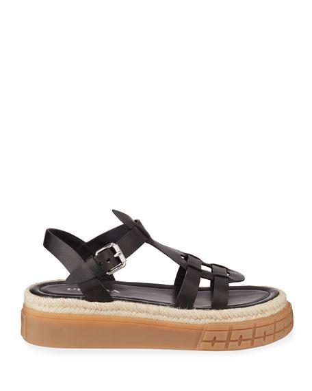 Prada Low Gladiator Chunky Sandals