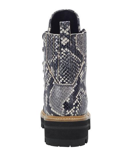 Marc Fisher LTD Izzie 2 Snake-Print Hiker Boots