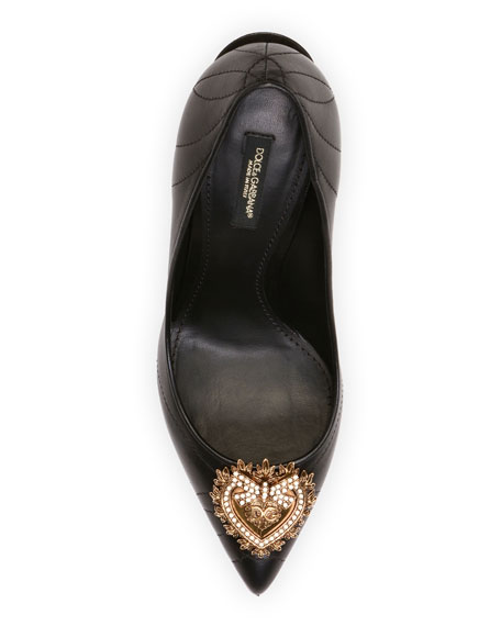 Dolce & Gabbana Devotion Leather Pointed Pumps