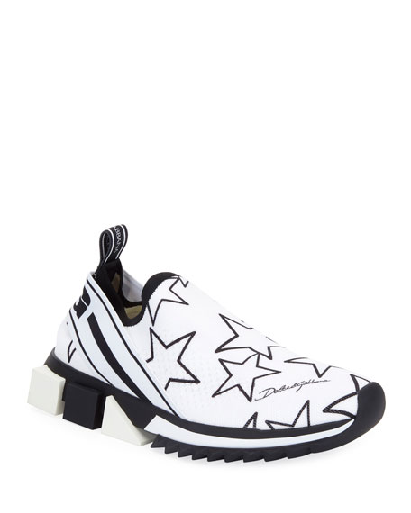 Dolce & Gabbana Sorrento Star Knit Trainer Sneakers