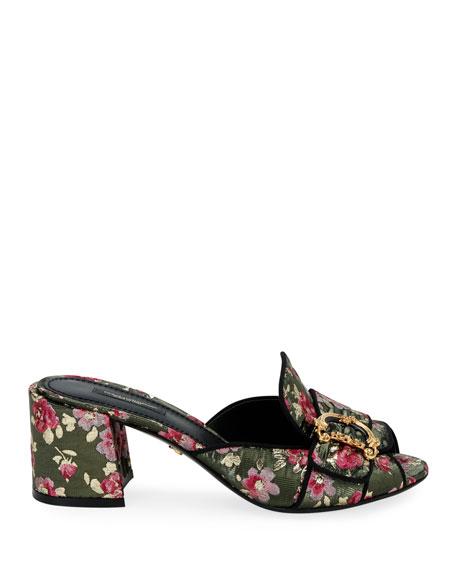 Dolce & Gabbana Floral Slide Mule Sandals