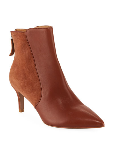 Josie Leather and Suede Booties