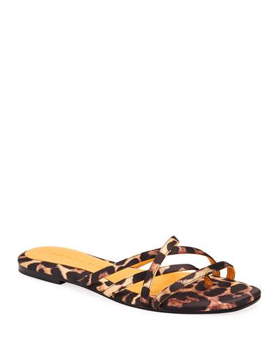 Martha Strappy Leopard-Print Sandals