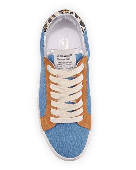 Image 3 of 4: Zadig & Voltaire Used Jean Denim Sneakers
