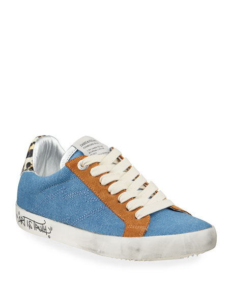 Image 1 of 4: Zadig & Voltaire Used Jean Denim Sneakers