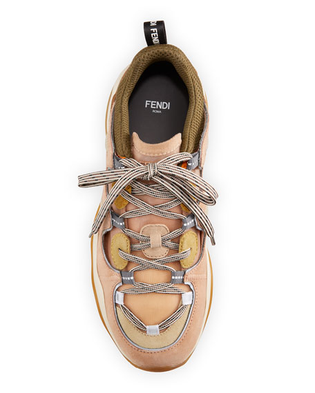 Fendi FFluid Mixed Lace-Up Sneakers