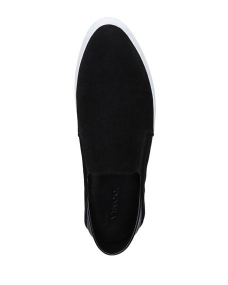 Vince Garvey Suede Slip-On Sneakers w/ Fold-Down Back