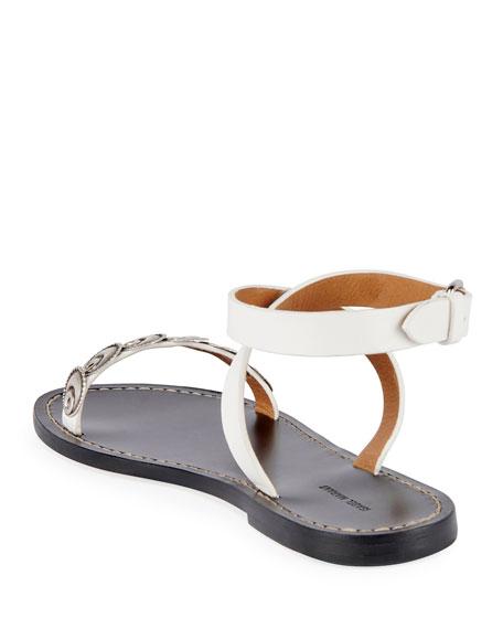 Isabel Marant Eldory Flat Metal Sandals