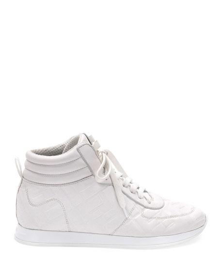 Fendi FFreedom High-Top Leather Sneakers