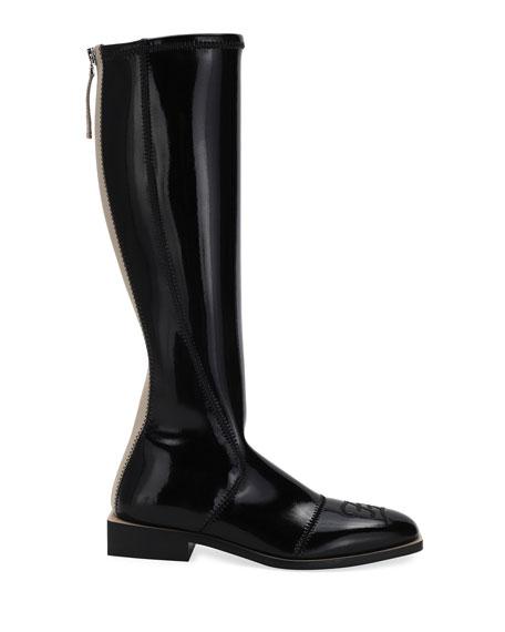 Fendi Neoprene Knee Boots