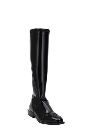 Fendi Neoprene Knee Boots