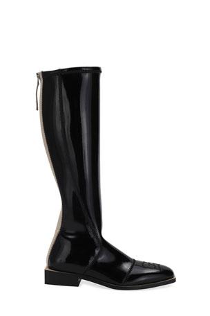 GEOX WOMENS D FELICITY Black Tall Knee High Boots Size EU 41