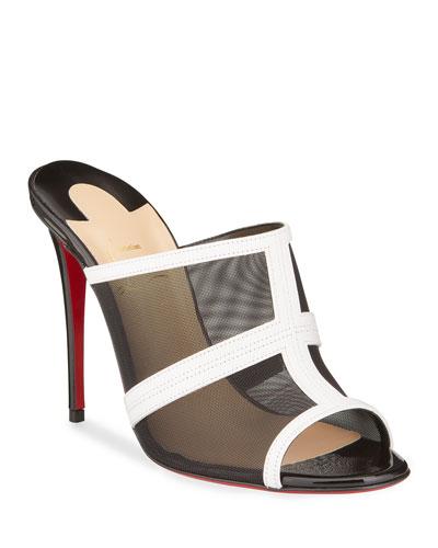 Interdite Mesh Red Sole Mule Sandals