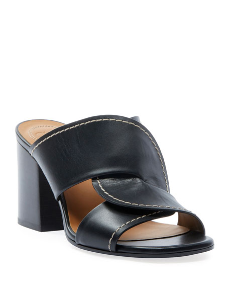 Image 1 of 4: Chloe Candice Leather Slide Sandals