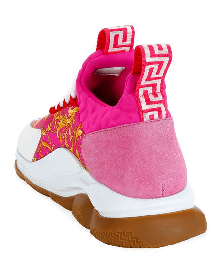 Versace Cross-Chainer Western Sneakers