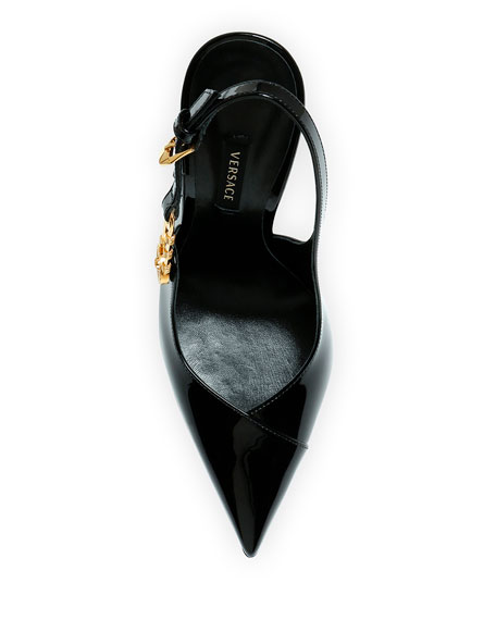 Versace Safety Pin Slingback Pumps