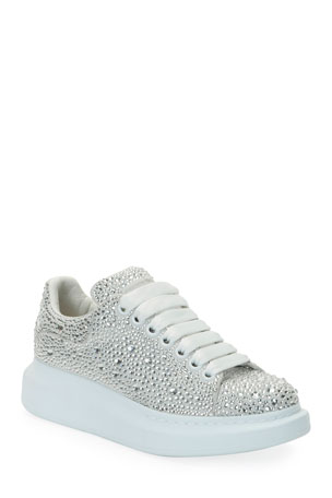 Alexander McQueen Oversized Crystal Chunky Sneakers