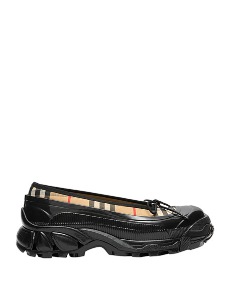 Burberry Linford Check Sneaker-Style Flats