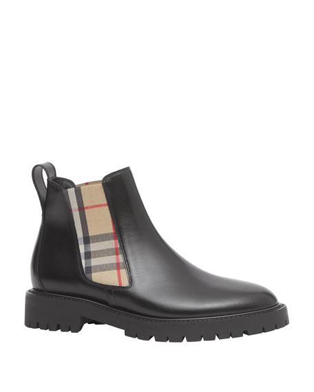 Burberry Allostock Check Chelsea Boots