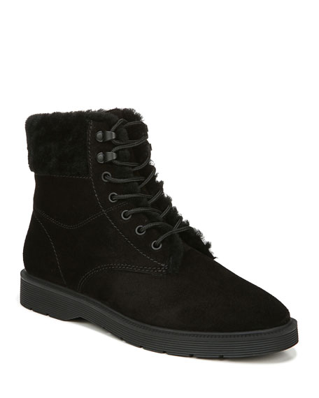 Vince Hayes 2 Water-Repellant Shearling-Lined Lace-Up Boots