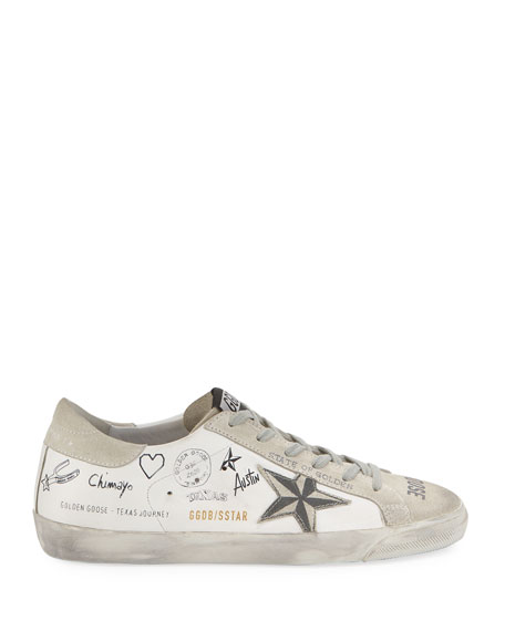 Golden Goose Superstar Texas Printed Sneakers