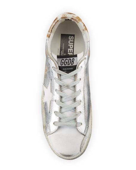 Golden Goose Superstar Metallic Lace-Up Sneakers