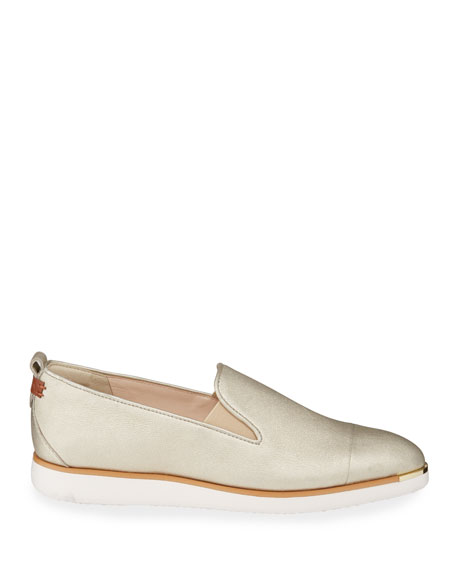 Cole Haan Grand Ambition Metallic Slip-On Loafers