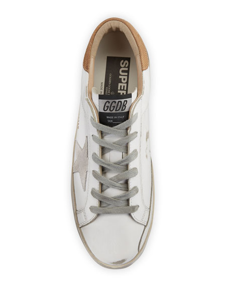 Image 3 of 3: Golden Goose Superstar Leather Lace-Up Sneakers