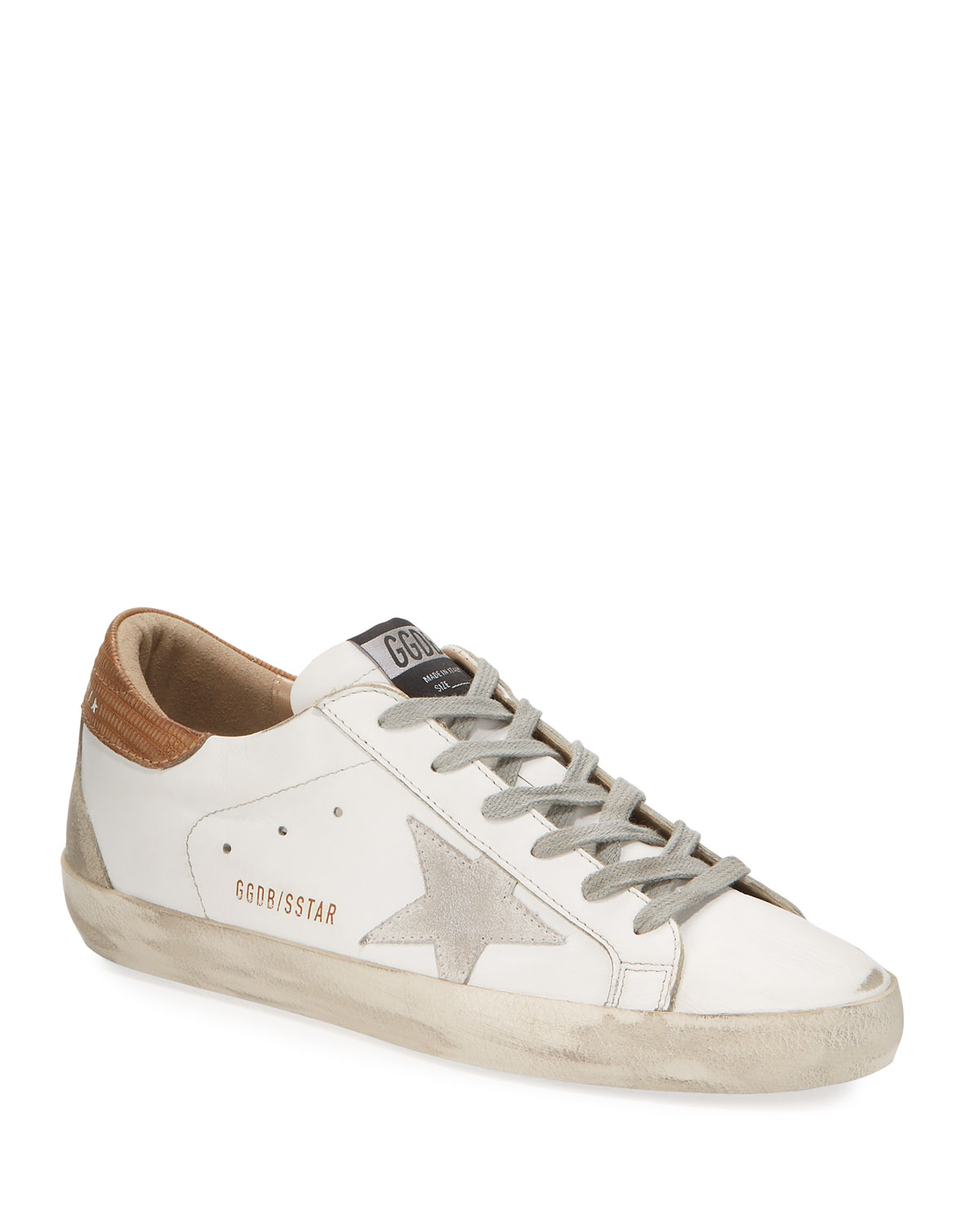Golden Goose Superstar Leather Lace-Up Sneakers