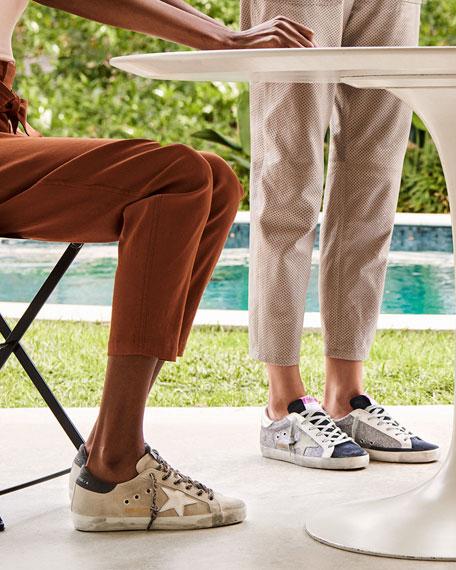 Golden Goose Superstar Suede and Leopard Sneakers