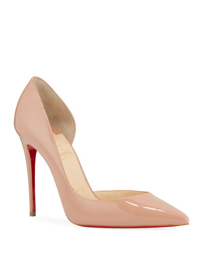 Iriza Patent Half-d'Orsay 100mm Red Sole Pumps